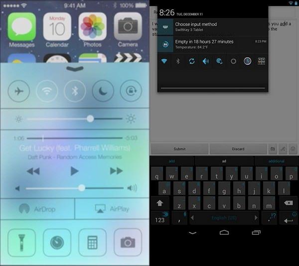 Экспортируем Пункт управления из iOS7 на Android