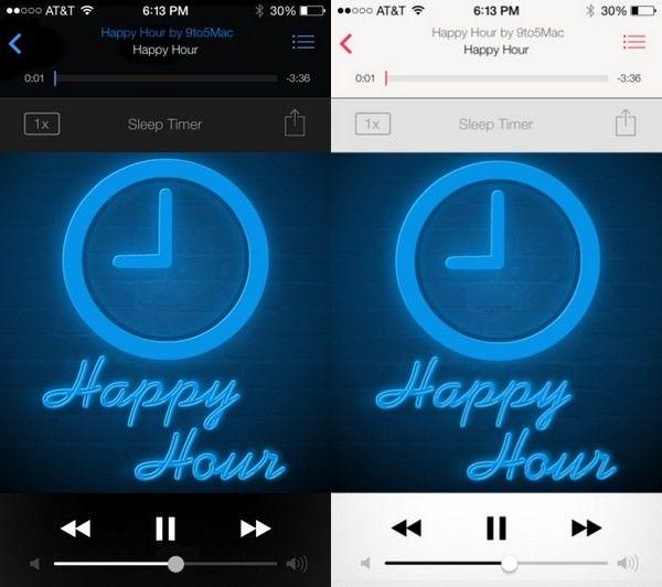 редизайн приложений iOS 7