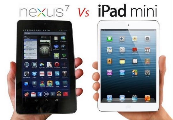 Сравнение iPad Mini и нового Nexus 7