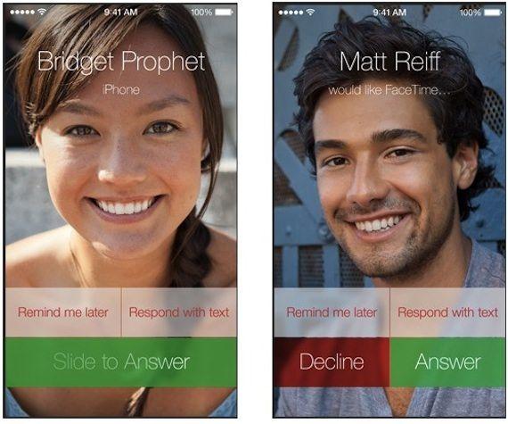 изменение кнопок в приложении Телефон и FaceTime в iOS 7 beta 4