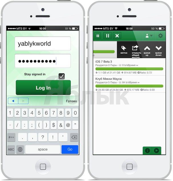 юторрент на iOS iphone ipad