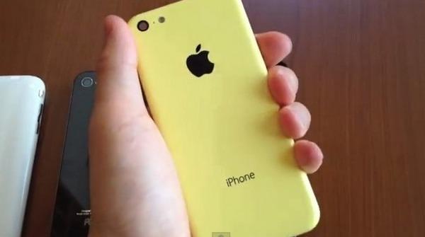 Желтый корпус бюджетного iPhone 5C