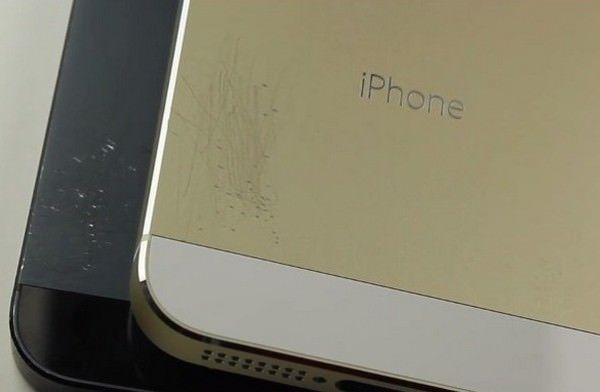 """""""золотого"""" iPhone 5S на устойчивость к повреждениям"""