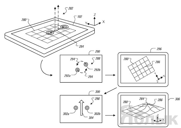 Apple-patents-3D-gesture-UI-for-iOS-yablyk