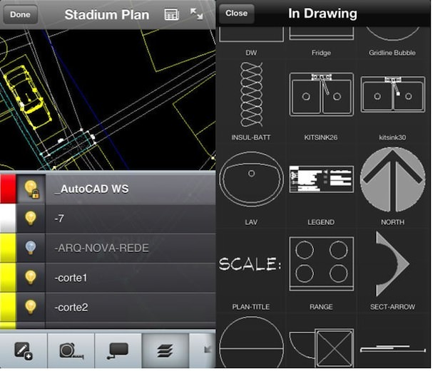AutoCAD для iPhone и iPad