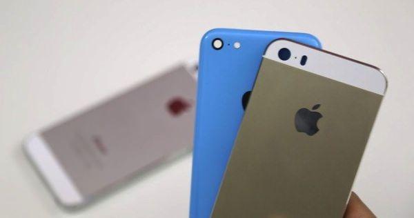 золотой iPhone 5s и бюджетный iPhone 5C