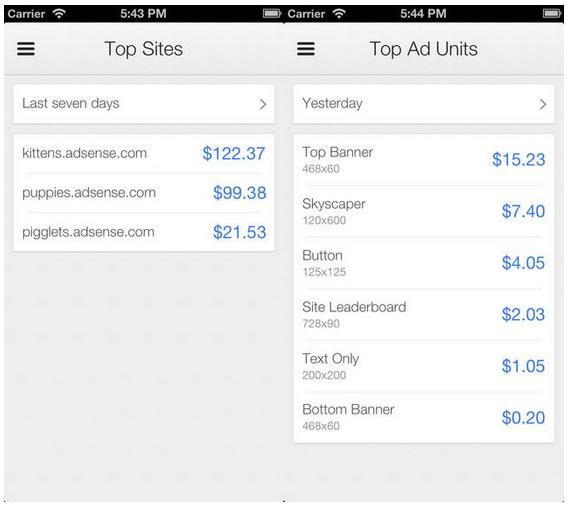Google AdSense для iPhone