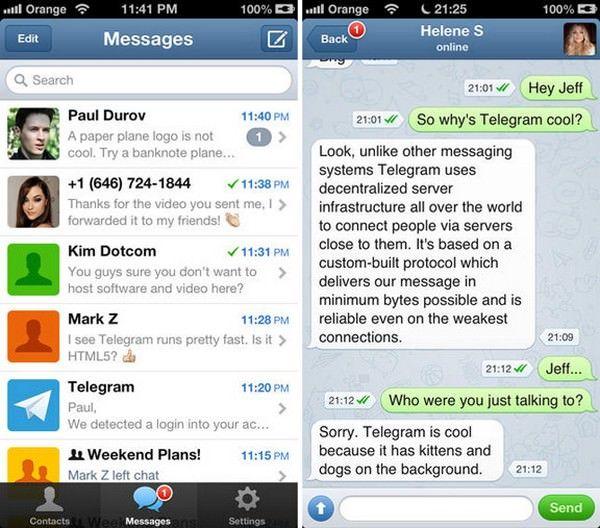 мессенджер Telegram от Павла Дурова