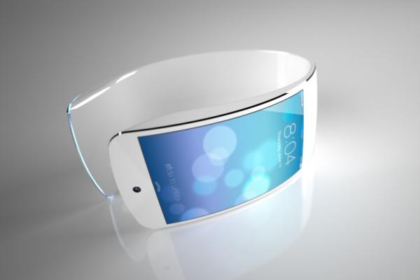 Концепт iWatch с гибким дисплеем и интерфейсом в стиле iOS7