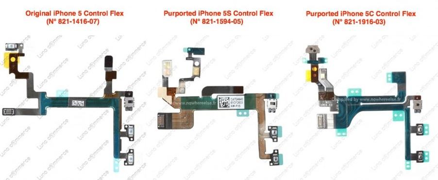 Сравнение шлейфов iPhone 5 и iPhone 5C