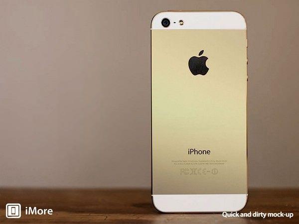 Золотой iPhone с эффектом «брызг шампанского»