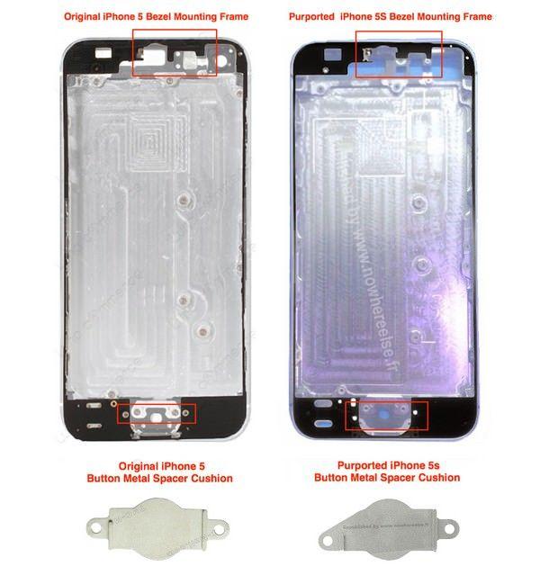 фото задней крышки iPhone 5S