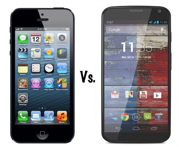 iphone 5 vs moto x