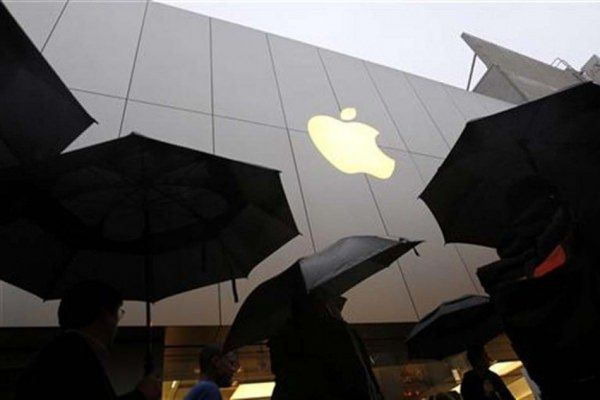 apple cube rain umbrella