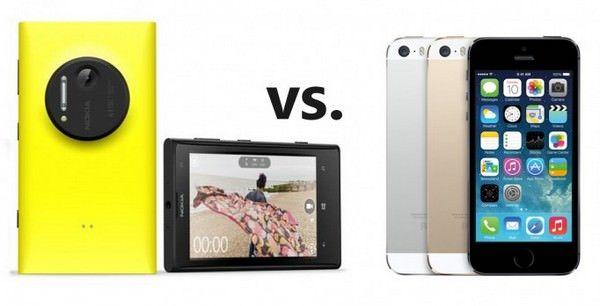 Сравнение iPhone 5S и Nokia Lumia 1020