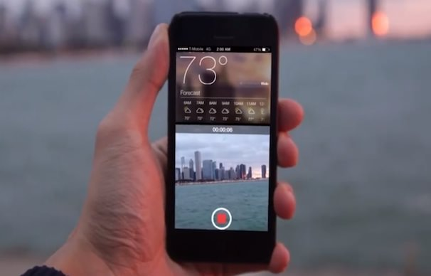 Scouter двойной экран на iPhone