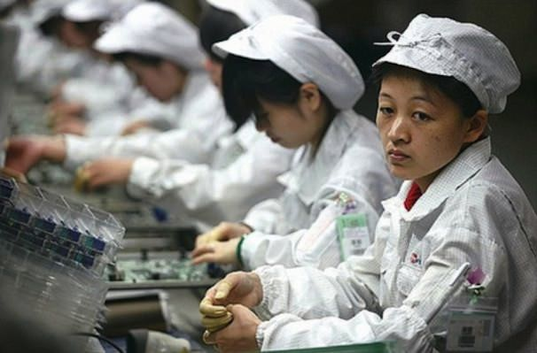 factory workers apple