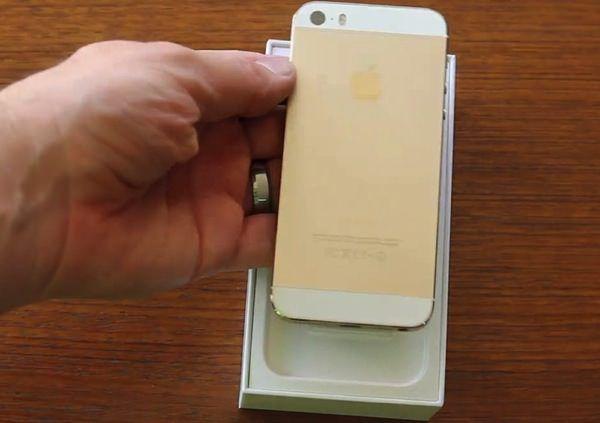 Распаковка золотого iPhone 5S