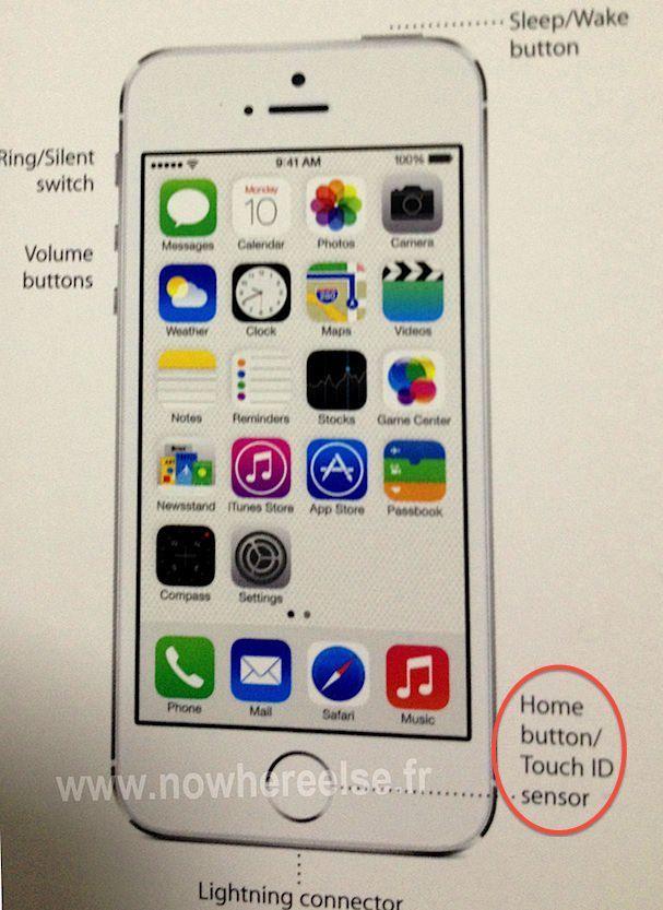touch id sensor в iPhone 5S