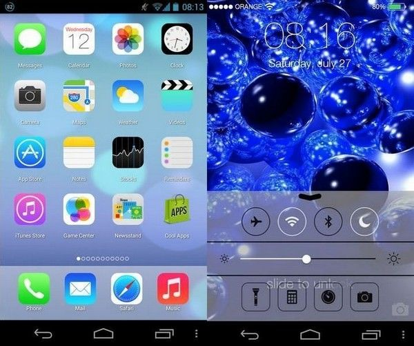 iOS 7 Android