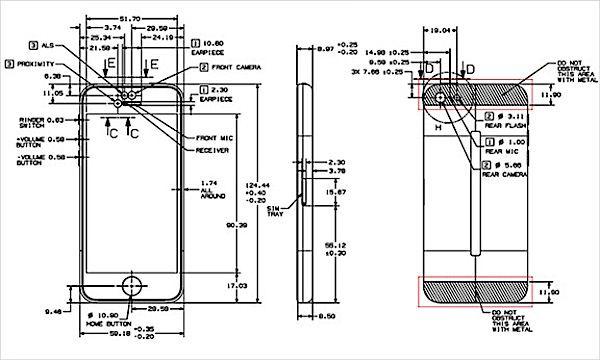 чертежи iPhone 5C
