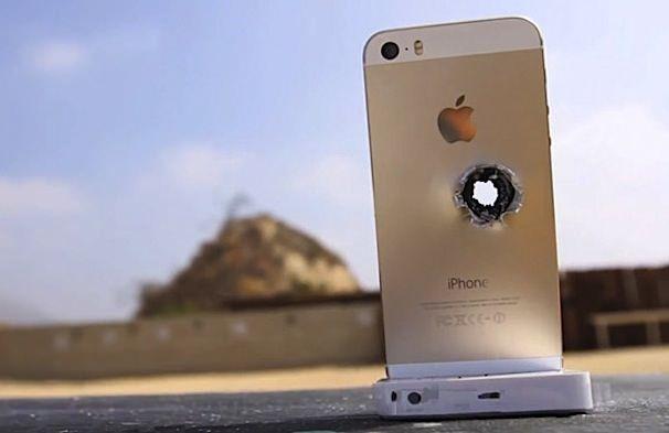 iphone 5S против винтовки