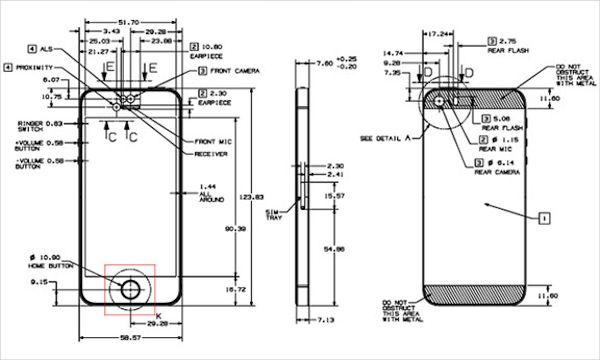 чертежи iPhone 5S