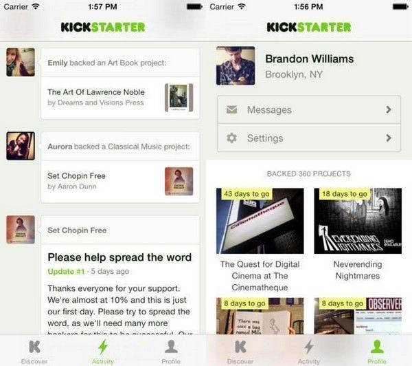 Kickstarter для iPhone