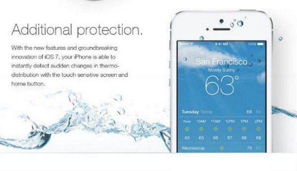 водонепроницаемую iOS 7