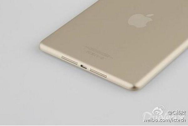 золотой iPad mini 2 со сканером отпечатков Touch ID