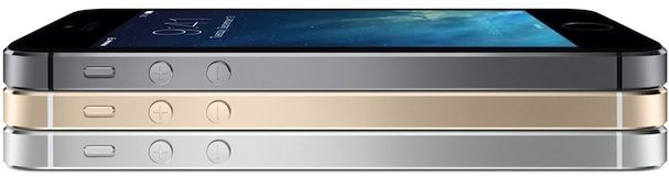 Серый, серебряный и золотой iPhone 5S