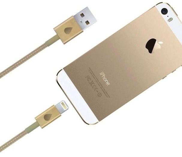 золотой lightning кабель для iphone 5s