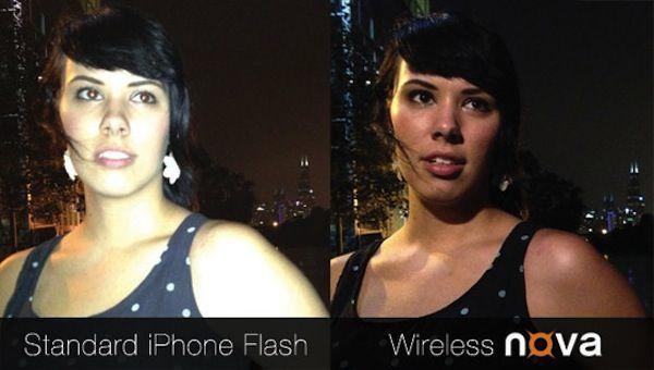 беспроводная вспышка nova для iPhone