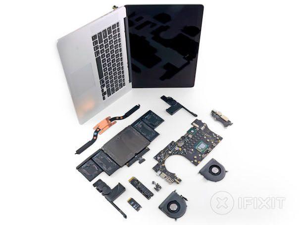 15-дюймовый macbook pro с дисплеем Retina