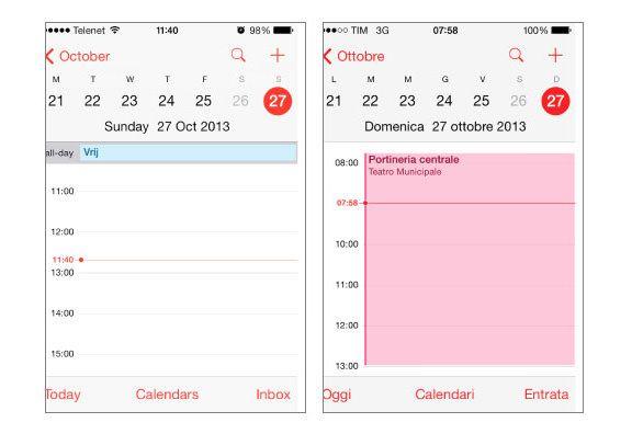 баг в календаре iOS 7