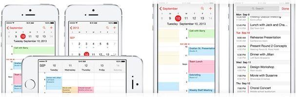 календарь в iOS 7