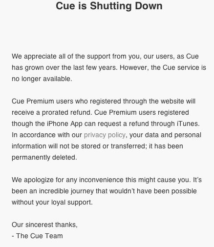 Apple покупает cue