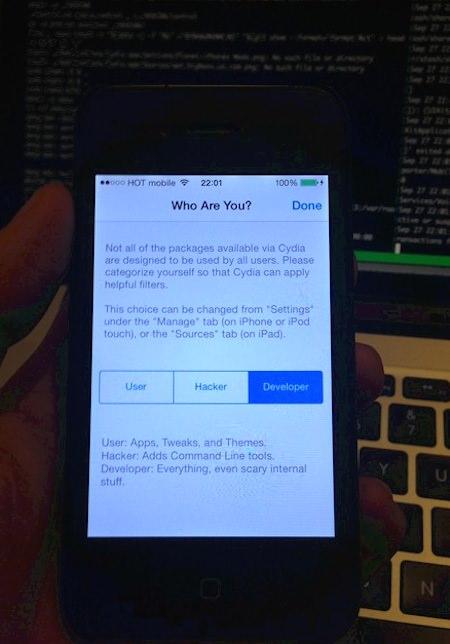 джейлбрейк Cydia на iOS 7