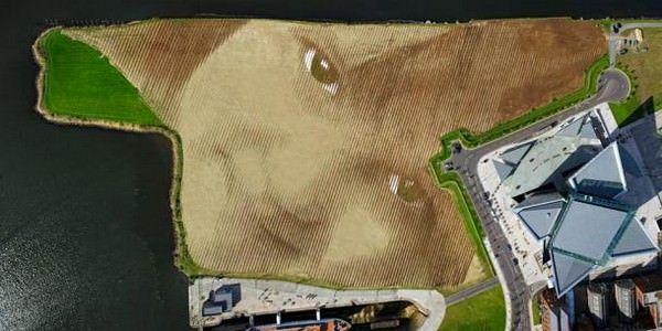 портрет площадью 4,5 гектаров при помощи GPS