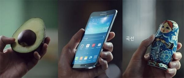 реклама Samsung Galaxy Round