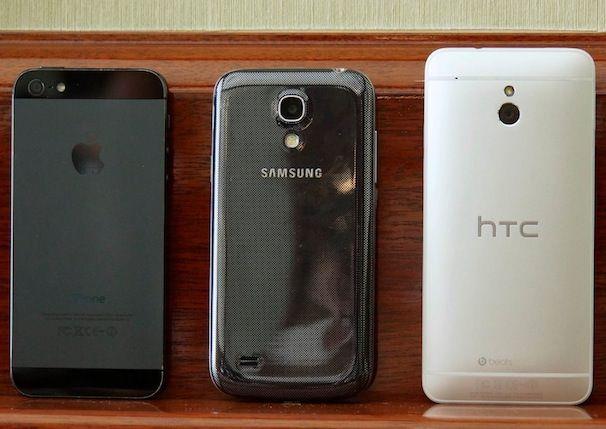 htc one mini samsung galaxy s4 mini apple iphone 5