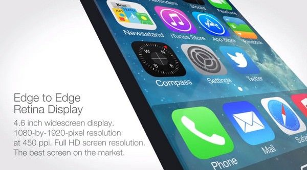 iPhone 6 с 4,6-дюймовым дисплеем и сенсорной кнопкой Home
