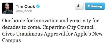 Тим Кук Твиттер