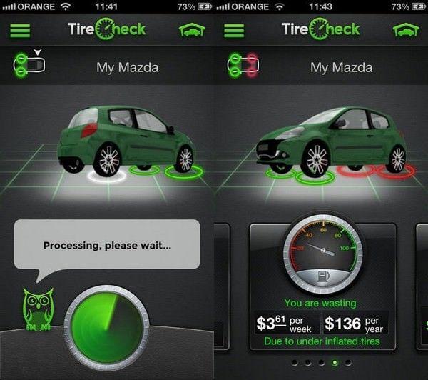 Приложение TireCheck для iPhone