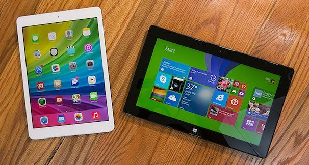 Сравнение Apple iPad Air и Microsoft Surface Pro 2