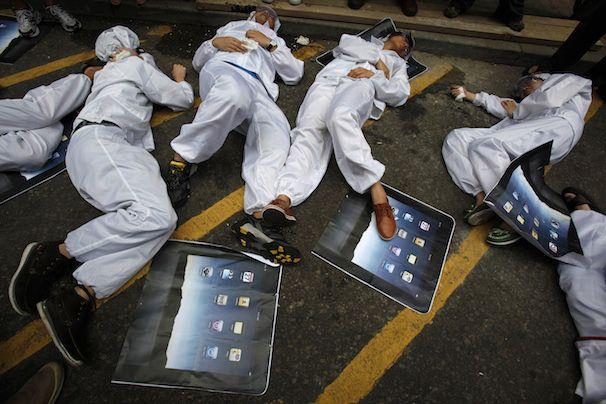 Забастовка рабочих на фабриках поставщиков Apple