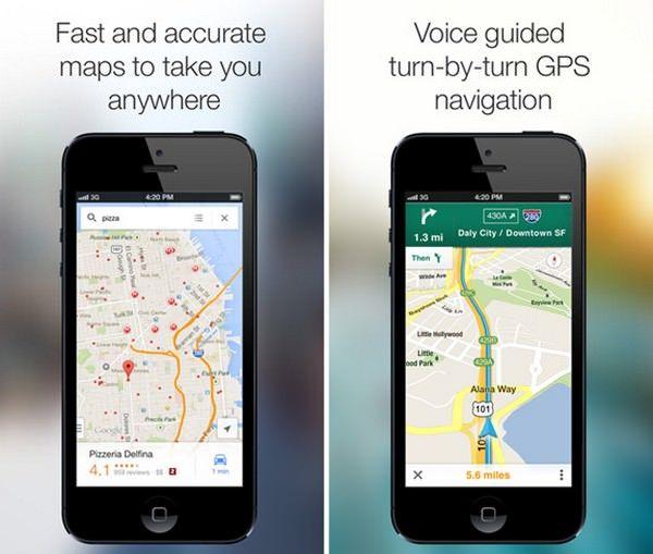 Новая версия Google Maps для iOS