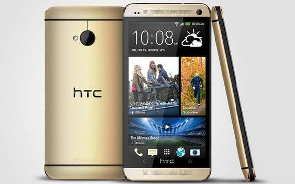HTC One пополнил ряды золотистых смартфонов