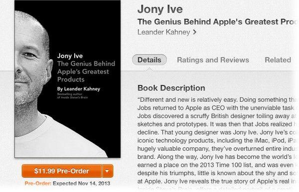 книга о Джонни Айве