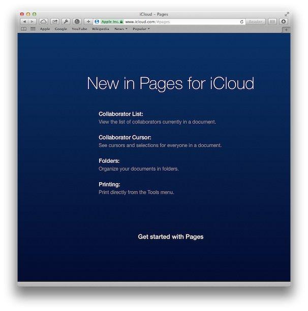 Новое в Pages для iCloud
